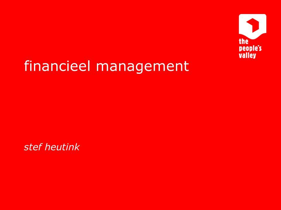 financieel management stef heutink