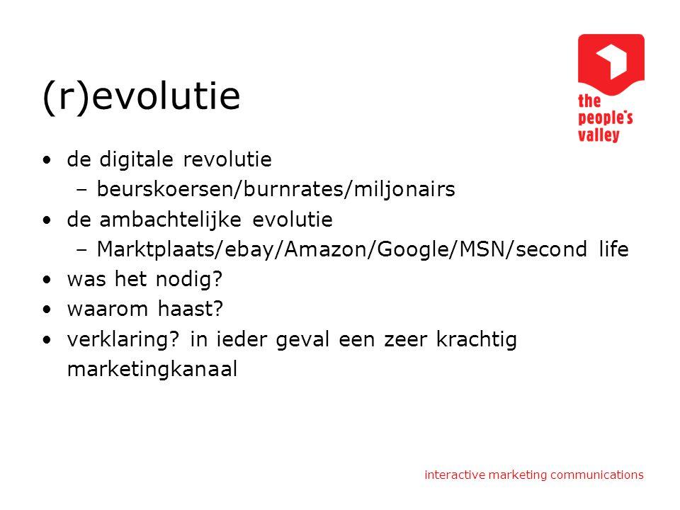(r)evolutie de digitale revolutie beurskoersen/burnrates/miljonairs