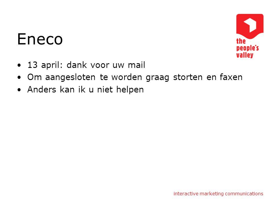 Eneco 13 april: dank voor uw mail