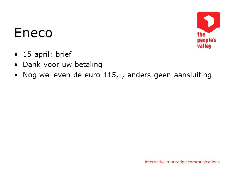 Eneco 15 april: brief Dank voor uw betaling