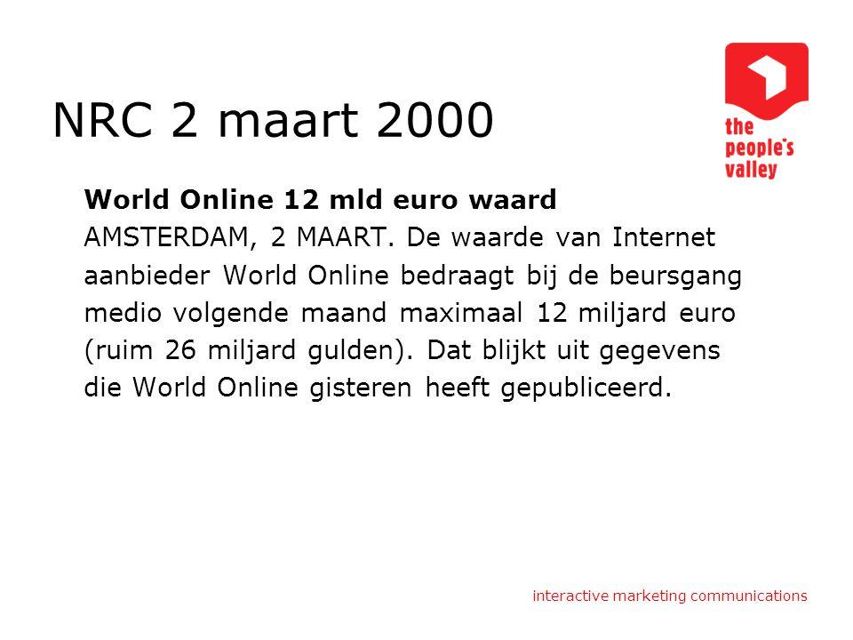 NRC 2 maart 2000 World Online 12 mld euro waard