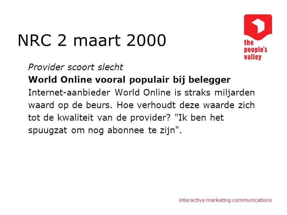 NRC 2 maart 2000 Provider scoort slecht