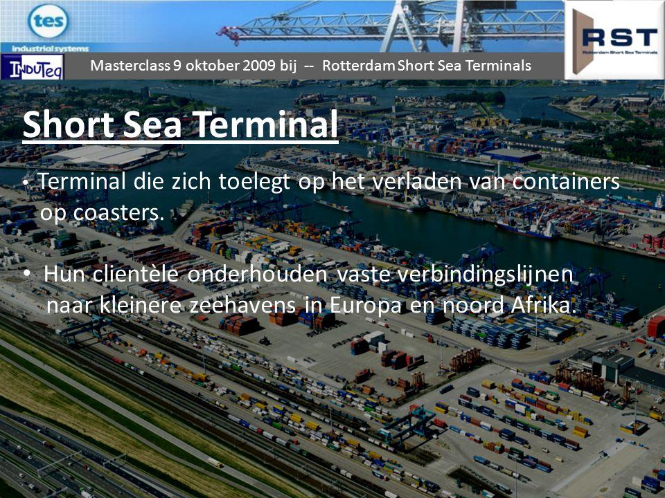 Short Sea Terminal op coasters.