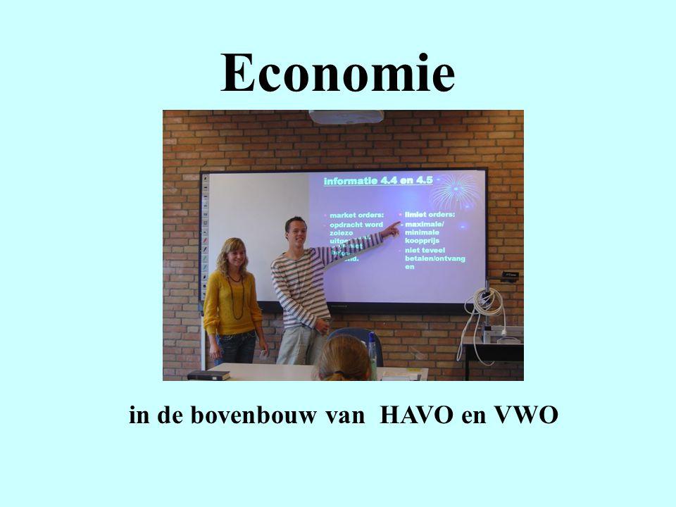 in de bovenbouw van HAVO en VWO