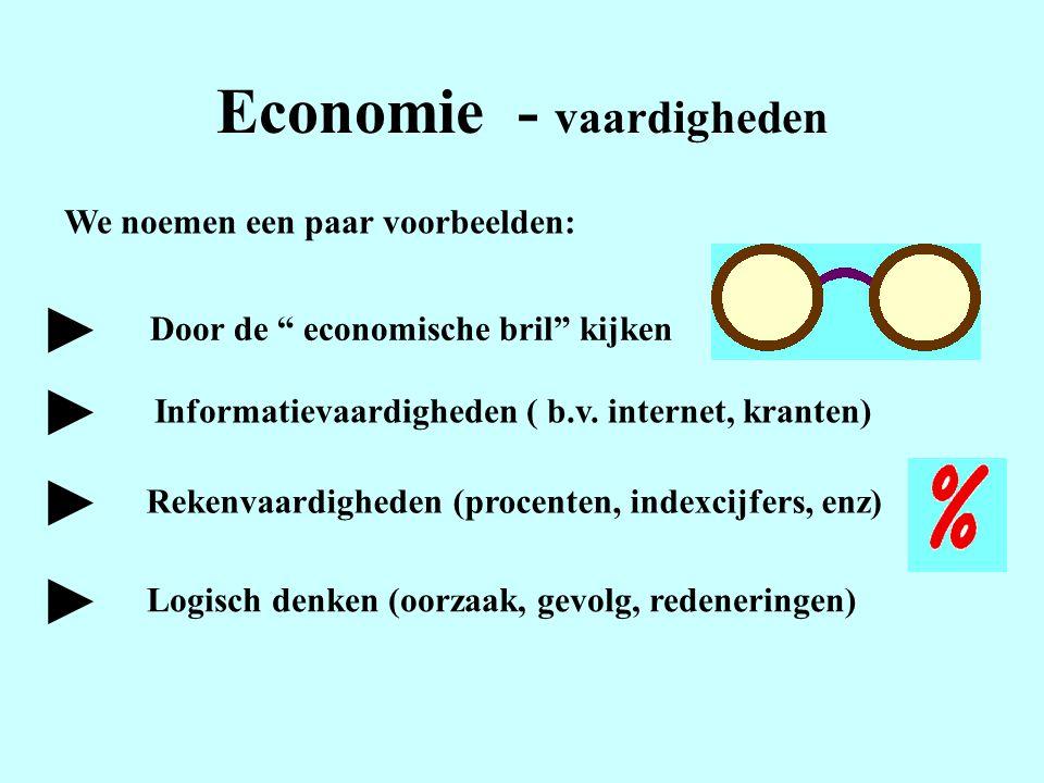 Economie - vaardigheden
