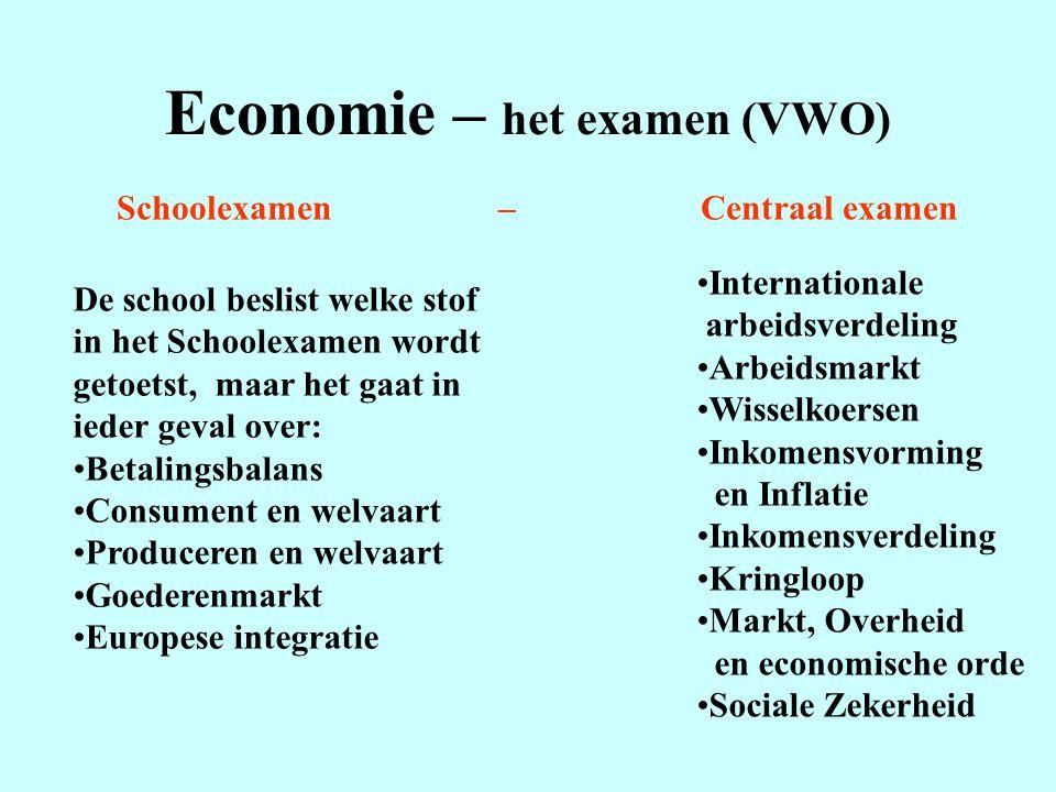 Economie – het examen (VWO)