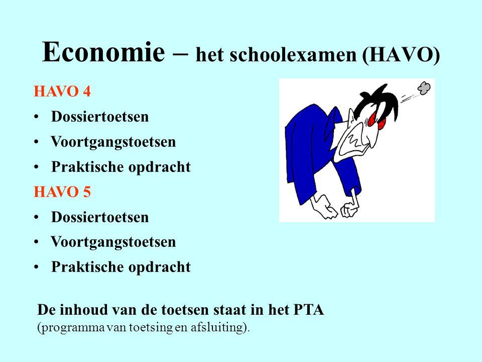 Economie – het schoolexamen (HAVO)