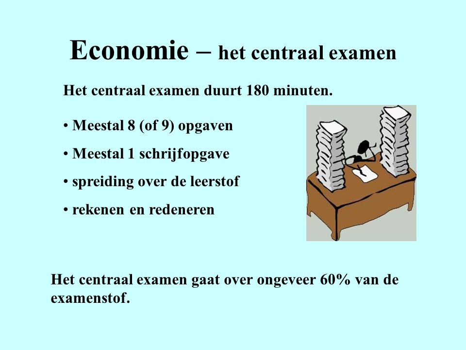 Economie – het centraal examen