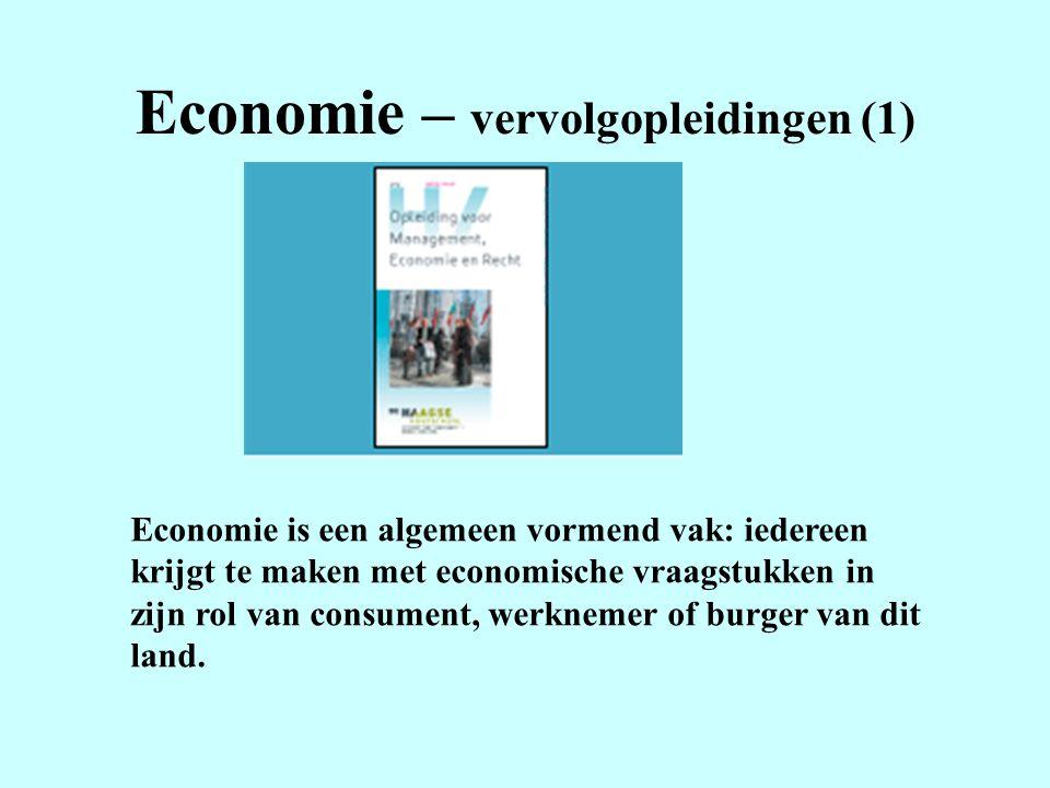 Economie – vervolgopleidingen (1)