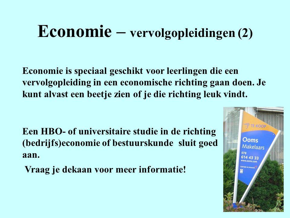 Economie – vervolgopleidingen (2)