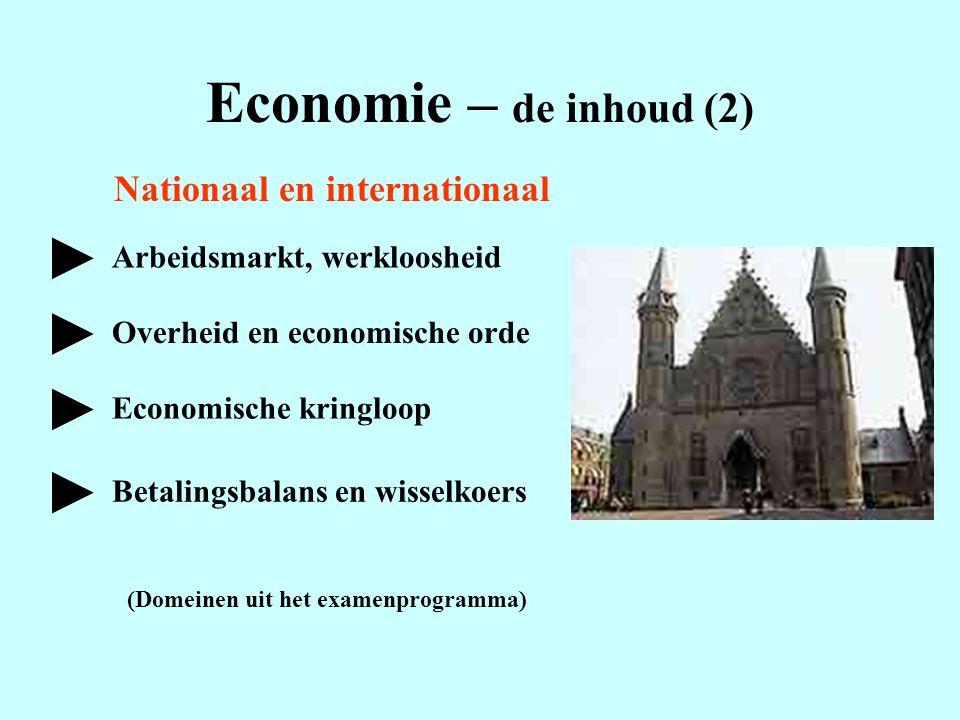Economie – de inhoud (2) ► ► ► ► Nationaal en internationaal