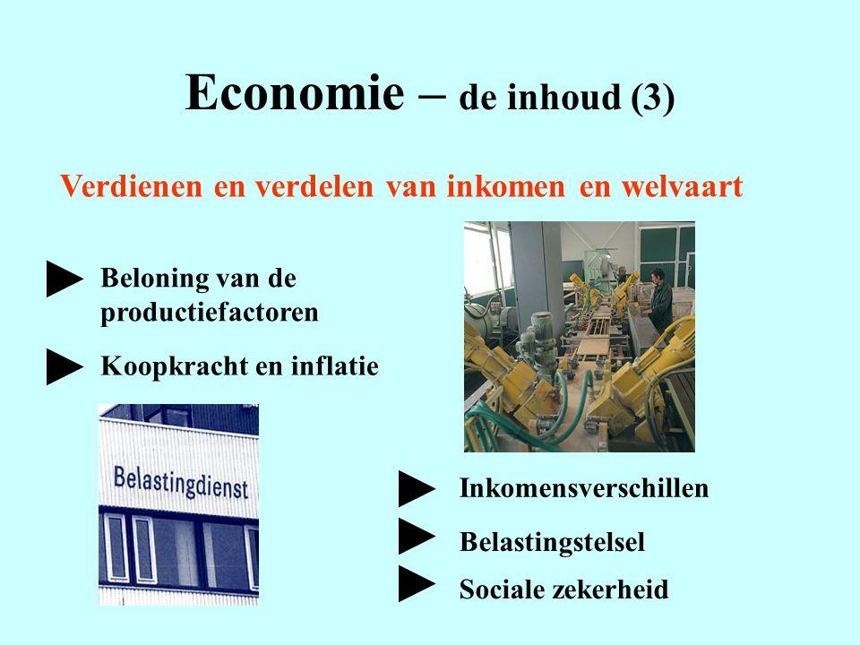 Economie – de inhoud (3) ► ► ► ► ►