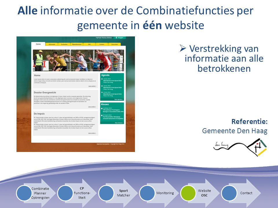 Alle informatie over de Combinatiefuncties per gemeente in één website