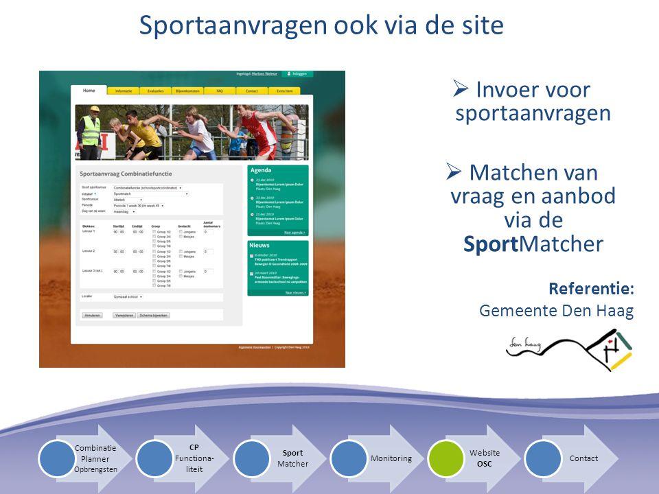 Sportaanvragen ook via de site