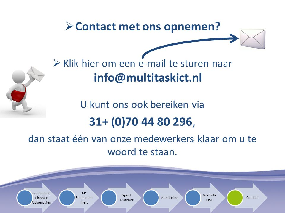 Contact met ons opnemen
