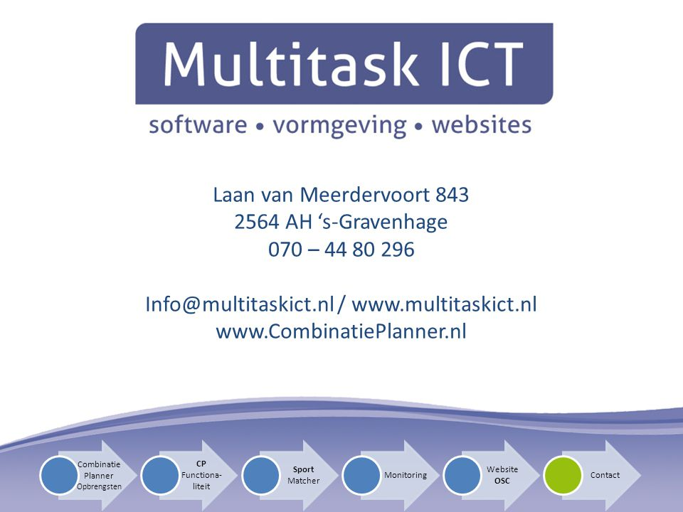 Info@multitaskict.nl / www.multitaskict.nl