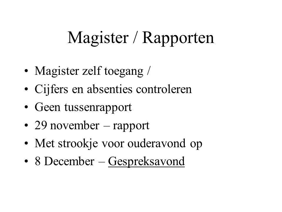 Magister / Rapporten Magister zelf toegang /