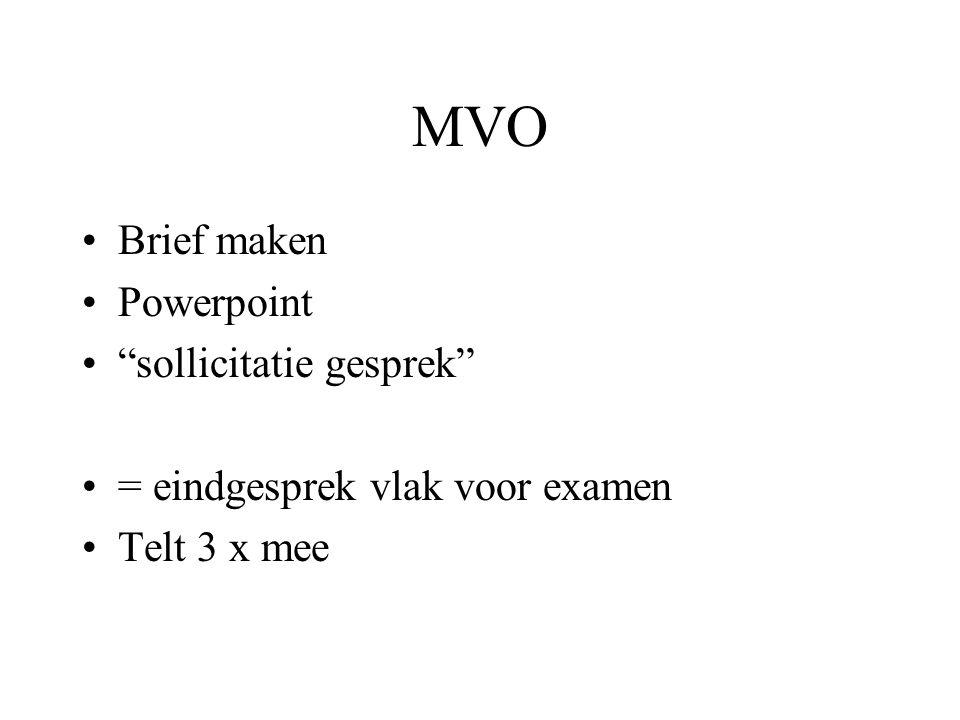 MVO Brief maken Powerpoint sollicitatie gesprek