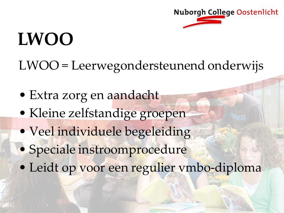 LWOO LWOO = Leerwegondersteunend onderwijs Extra zorg en aandacht