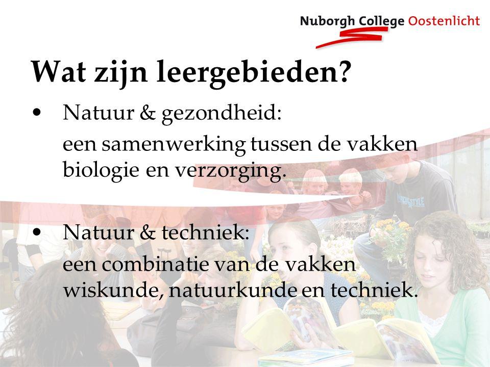 Wat zijn leergebieden Natuur & gezondheid: