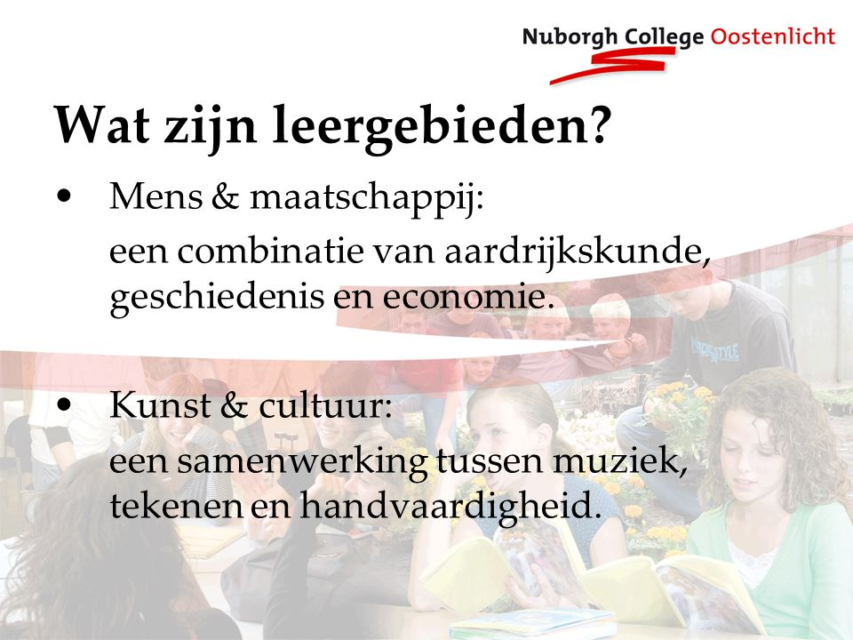 Wat zijn leergebieden Mens & maatschappij: