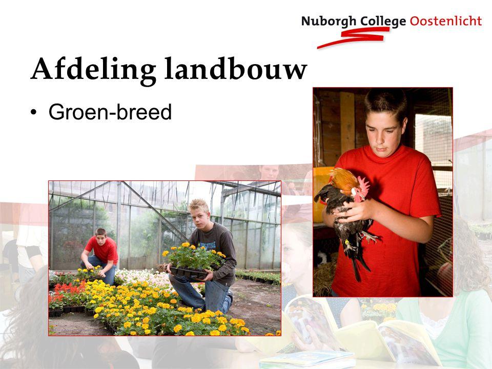 Afdeling landbouw Groen-breed