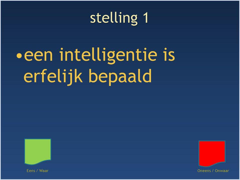 een intelligentie is erfelijk bepaald