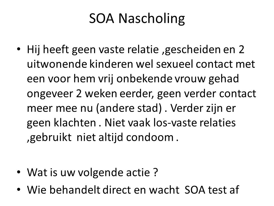 SOA Nascholing