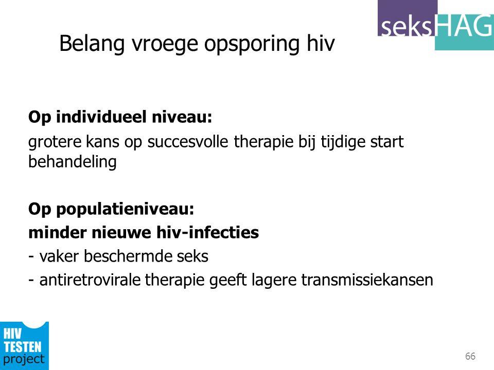 Belang vroege opsporing hiv