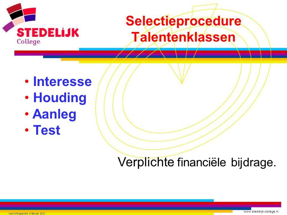 Selectieprocedure Talentenklassen