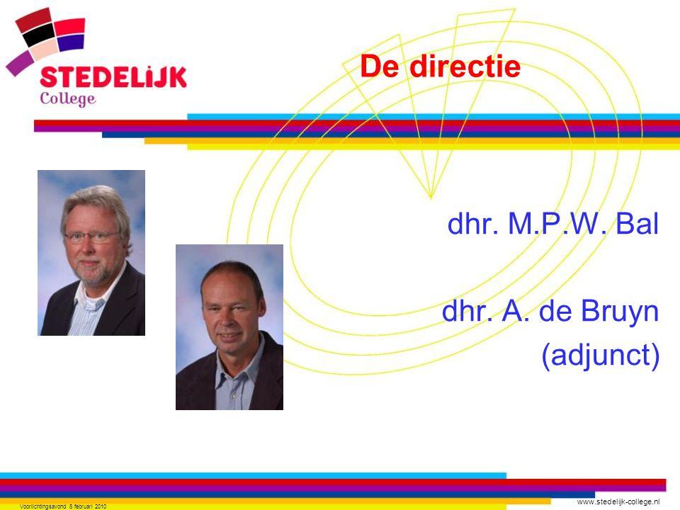 dhr. M.P.W. Bal dhr. A. de Bruyn (adjunct)