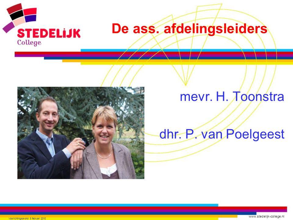 mevr. H. Toonstra dhr. P. van Poelgeest