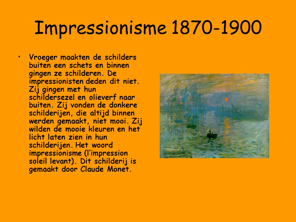 Impressionisme 1870-1900