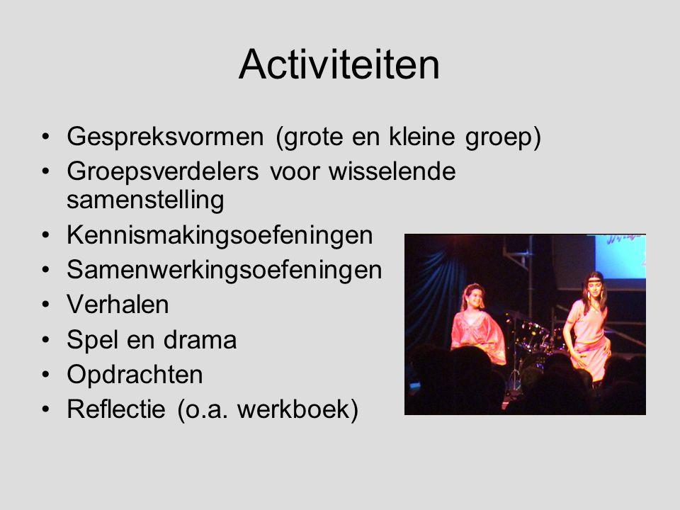 Activiteiten Gespreksvormen (grote en kleine groep)