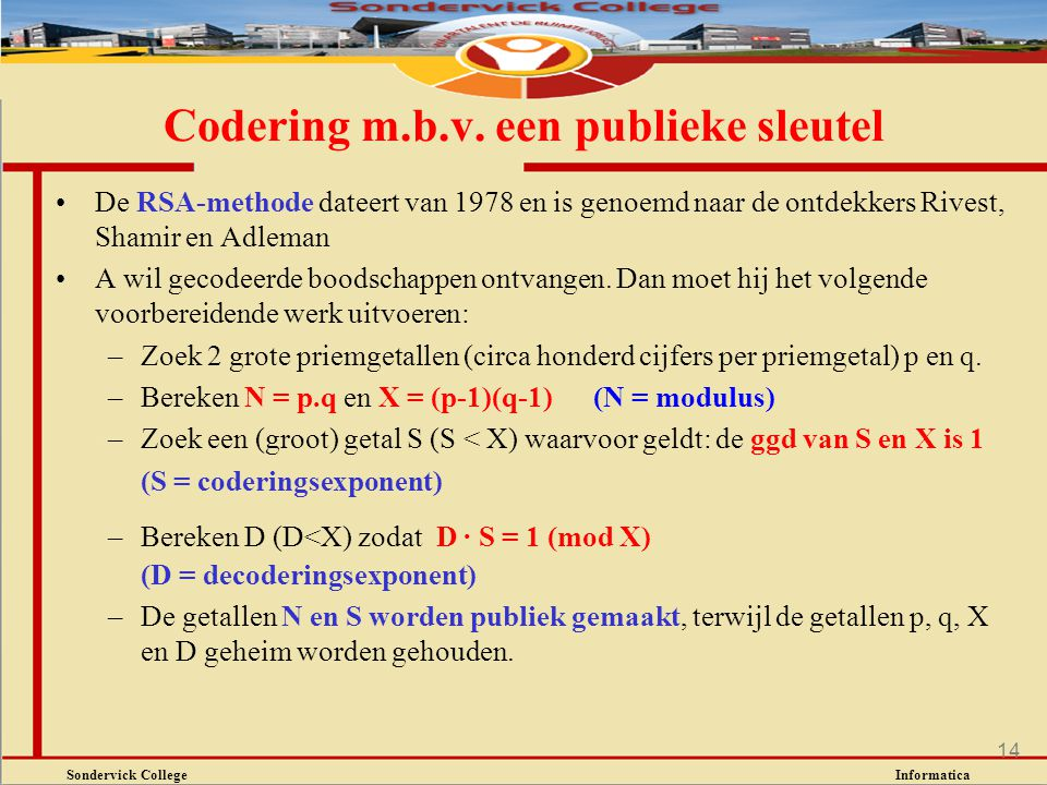 Codering m.b.v. een publieke sleutel