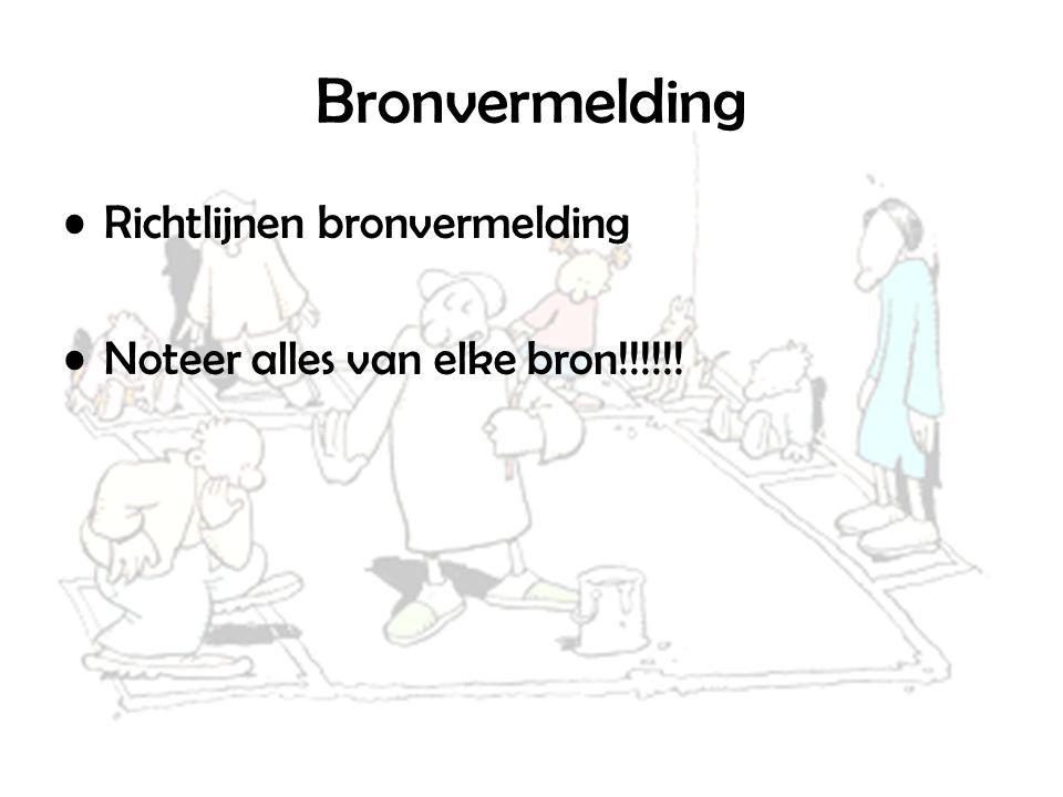 Bronvermelding Richtlijnen bronvermelding