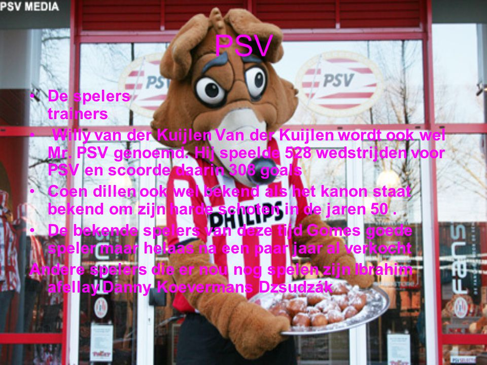 PSV De spelers trainers