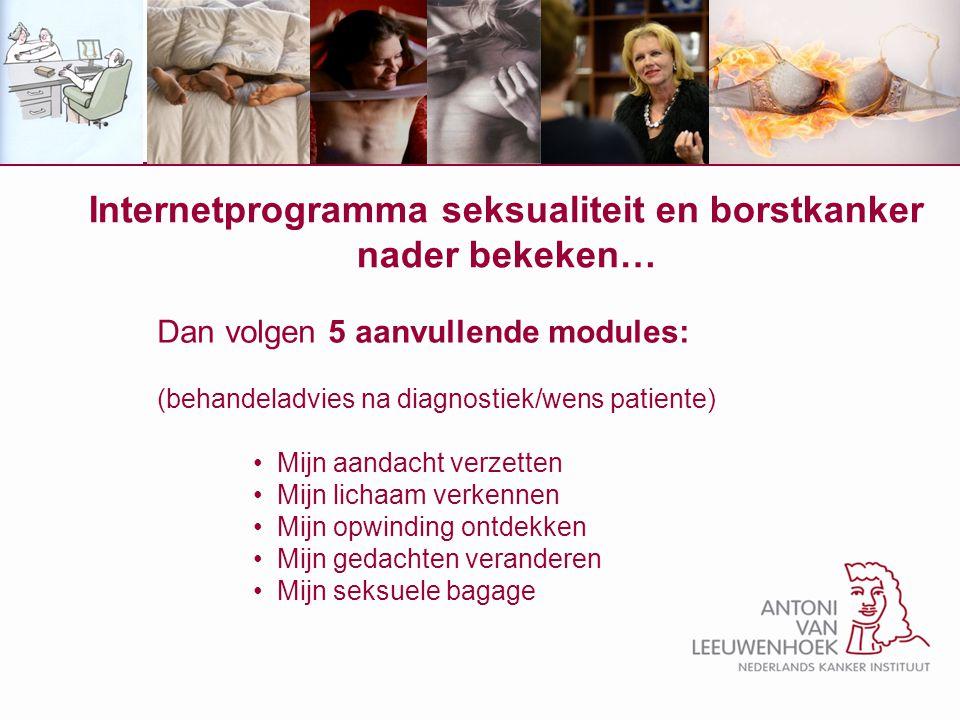 Internetprogramma seksualiteit en borstkanker nader bekeken…