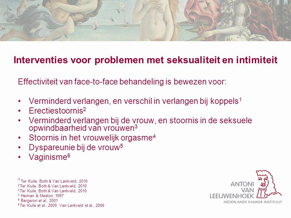 Interventies voor problemen met seksualiteit en intimiteit