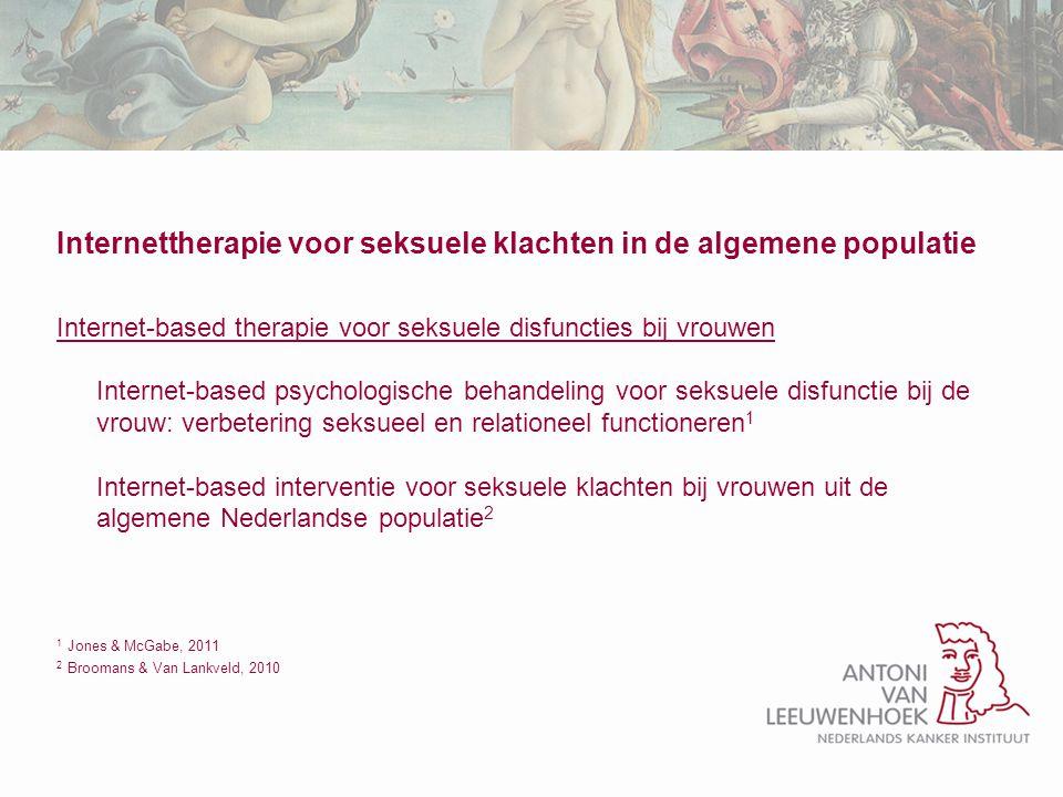 Internettherapie voor seksuele klachten in de algemene populatie