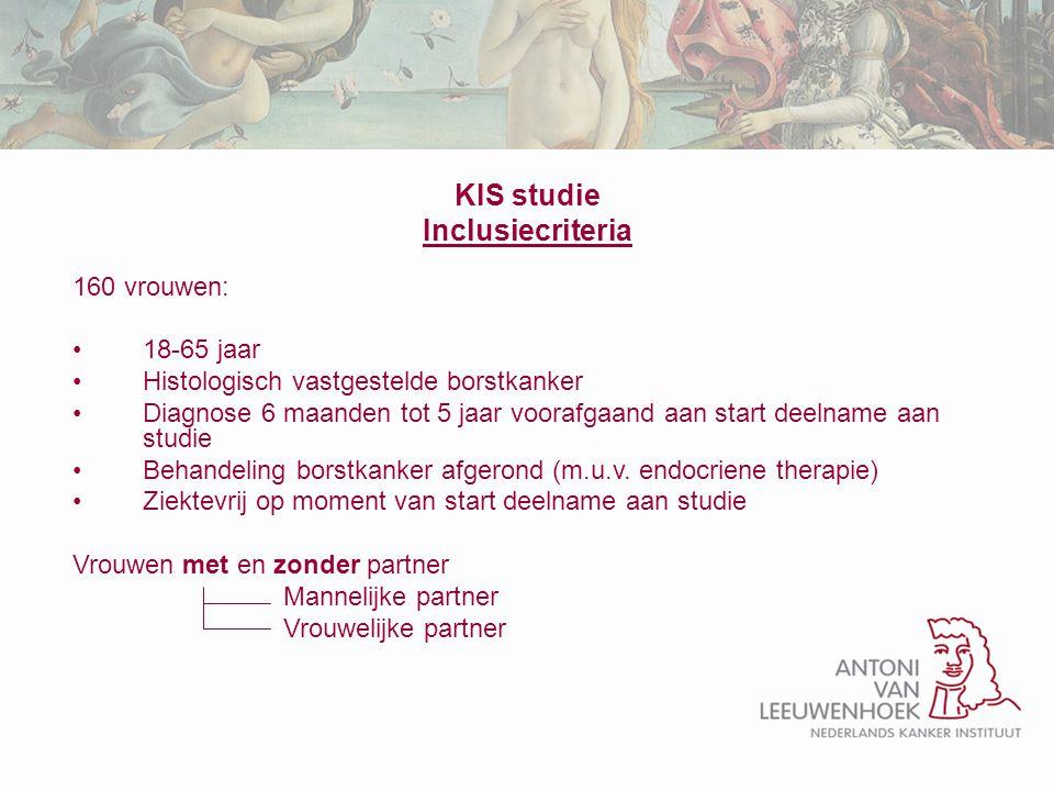 KIS studie Inclusiecriteria
