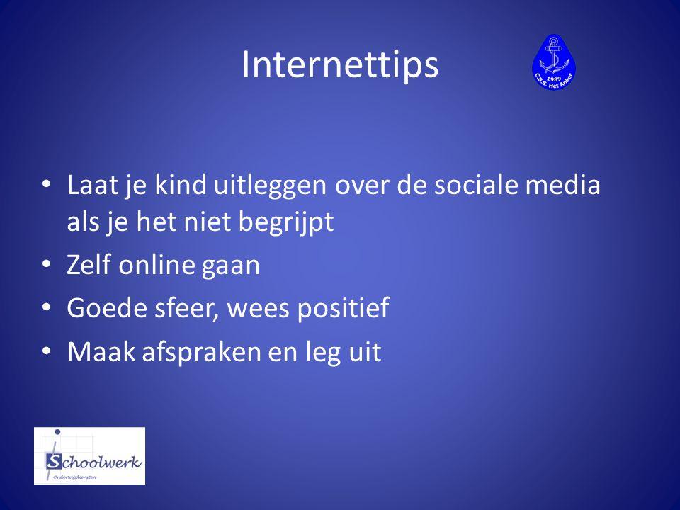 Internettips Laat je kind uitleggen over de sociale media als je het niet begrijpt. Zelf online gaan.