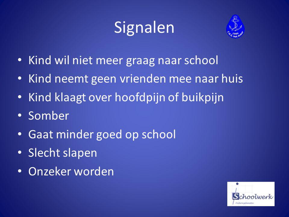 Signalen Kind wil niet meer graag naar school