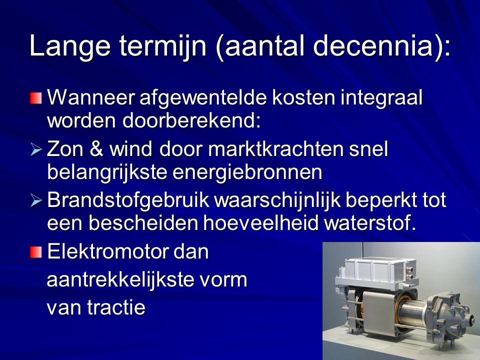 Lange termijn (aantal decennia):