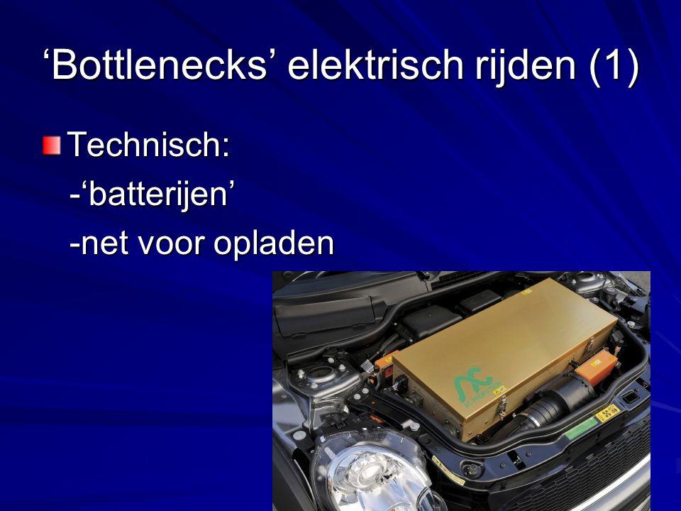 'Bottlenecks' elektrisch rijden (1)