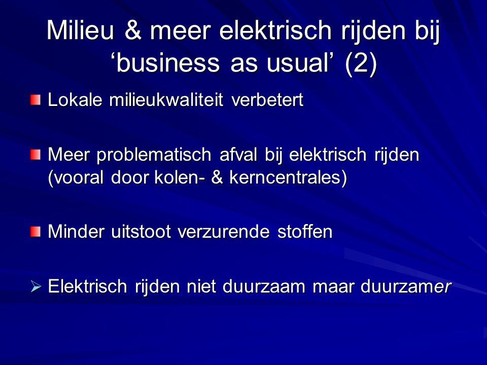 Milieu & meer elektrisch rijden bij 'business as usual' (2)