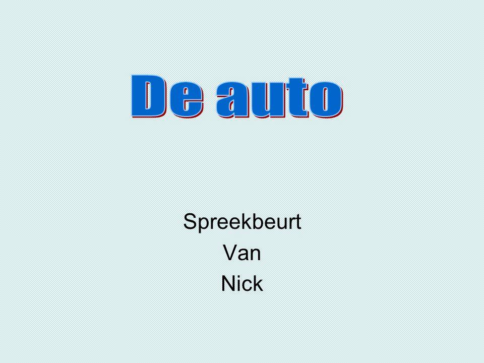 De auto Spreekbeurt Van Nick