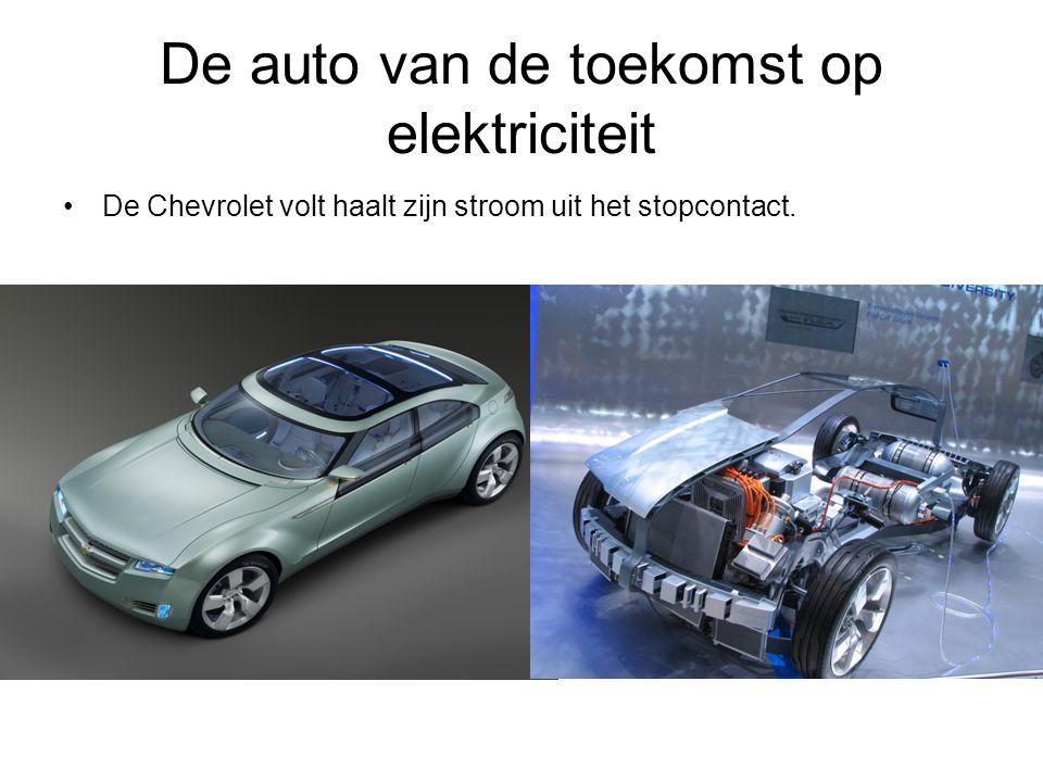 De auto van de toekomst op elektriciteit