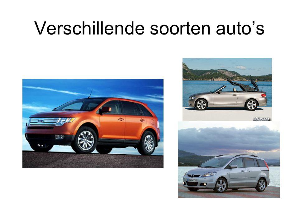 Verschillende soorten auto's