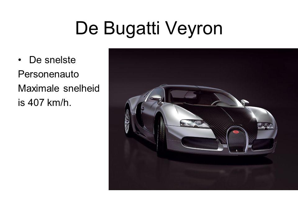 De Bugatti Veyron De snelste Personenauto Maximale snelheid